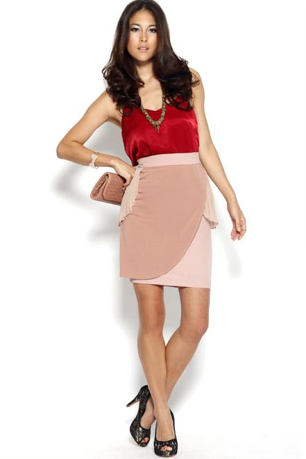 MDS Alice Pleated with Love Skirt in Blush