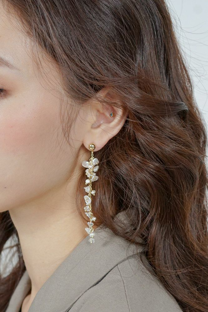 Senya Earrings in Gold - Arriving Soon