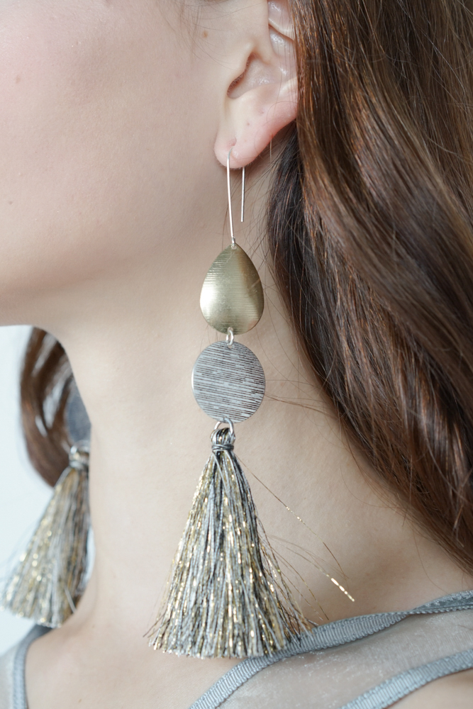 Long Tassel Earrings in Gold  - Arriving Soon