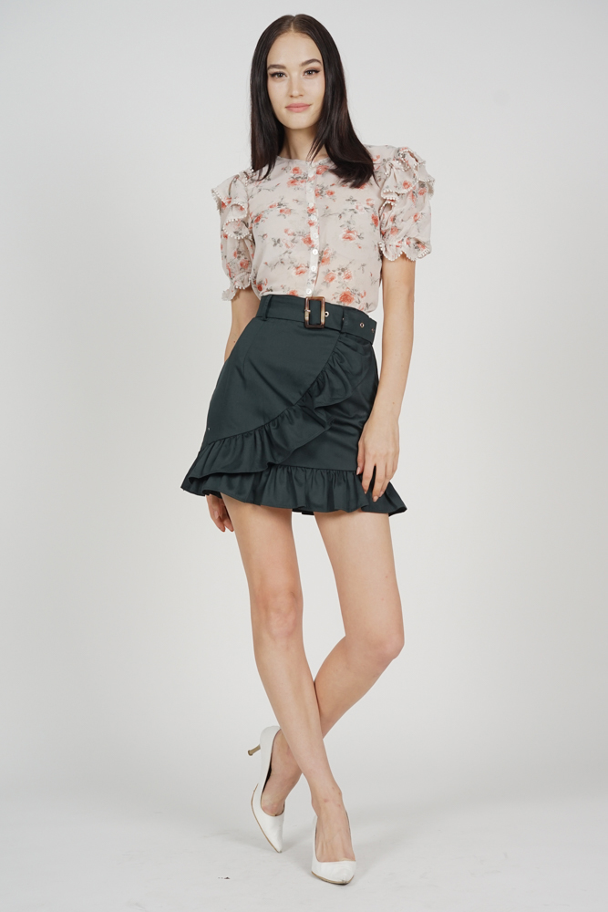 Uria Buttoned Top in Pink Floral - Arriving Soon