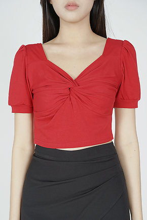 Mekka Gathered Top in Red - Online Exclusive