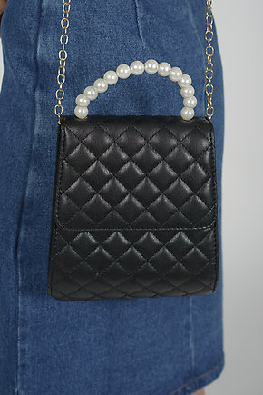 Cherie Quilted Bag in Black - Arriving Soon